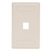 (3-pack) Hubbell IFP11LA Flush Phone/Data/Multimedia Wall Plate 1-Gang 1-Port Light Almond