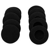 """YunYiYi 10 Pairs 60mm/2.4"""" Replacement Foam Ear Pud Earpads Sponge Cushion Covers for Logitech H600, H330, H340 / Sony MDR-G45LP,MDR-G55LP ,MDR-G410LP, MDR-G101LP"""