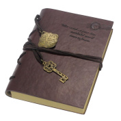 Vintage Planner, Joopee Magic Key String Retro Leather Note Book Diary PU Leather Cover Notebook
