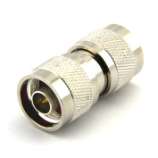 Maxmoral N Type Male To N Type Male RF Straight Adapter N Male Plug to N Male Plug Wi-Fi Adapter Coupler