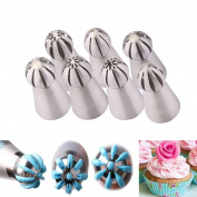 TOPCHANCES Cake Decoration Tips Set - Professional Stainless Steel Piping/Dispenser Nozzle Kit