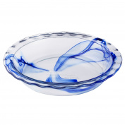 Pyrex Watercolour Collection Blue Lagoon 24cm Pie Plate