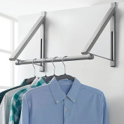 Over-the-Door Collapsible Closet Rod in Silver