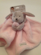 Blankets And & Beyond Baby Boy Security Lovey Pink Grey Bunny Nunu Layette