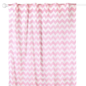 Pink Zig Zag Print Window Drapery Panels - Set of Two 210cm by 110cm Panels