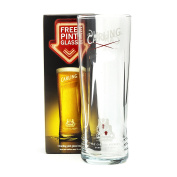 Carling Beer Pint Glass Official Branded New Boxed Home Pub Bar Brew Drink New