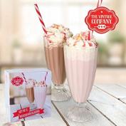2 Sundae Dessert Milkshake Glasses With Straw Kitchen Drink Ice Cream Dishes Bowls Fruit Cream Sorbet Gift Present Knickerbocker Glory