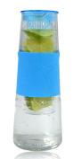 Glass Carafe with Diffuser Blue Fruit Bottle Drink Infuser ca.1 litre Jug