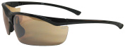 Kele by NYX Torch Sunglasses, Brown Frame/Amber Lens