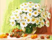 [WOODEN FRAME]Diy Oil Painting Paint By Number Home Decor Wall Pic Value Gift-Beautiful Flowers 41cm x 50cm