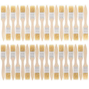 US Art Supply 36 Pack of 2.5cm Paint and Chip Paint Brushes for Paint, Stains, Varnishes, Glues, and Gesso