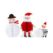 Waiting for Santa Christmas Honeycomb Friends Centrepiece Decorations