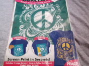 Zip Screens Simple Screen Printing System - Peace
