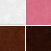 FOUR 30cm x 30cm Blinggasm Vinyl Sheets Set, Italian Leather Pattern Outdoor Vinyl 010