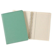 Wire-O-Notebook 18cm Robins-Egg-Blue Fine Leather by Graphic Image™ - 5x 7