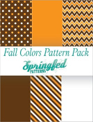 FALL colours PATTERN CRAFT PACK! 6 Pieces 12x12 Pattern Craft Vinyl Oracal 651 Vinyl