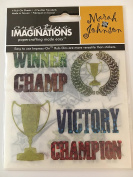 Creative Imaginations Victory 4 Rub-On Sheets