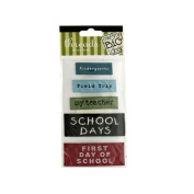 JT Scrapbooking Assorted School Woven Labels - 24 Pack