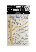 JT Scrapbooking Craft Activity Wedding Sayings Rub-On Transfers - 24 Pack