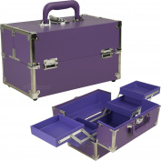 SUNRISE Purple Makeup Train Case - C3026