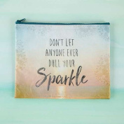 "Pack of 2 Natural Life ""Don't let anyone ever dull your sparkle"" Recycled Zip Pouch"