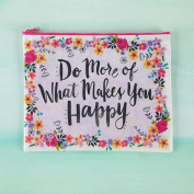 "Pack of 2 Natural Life ""Do more of what makes you happy"" Recycled Zip Pouch"