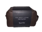 Bloomingdale's The Men's Store Genuine Leather Travel Kit in Brown