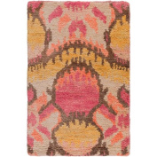 Surya SCR5149-23 Scarborough Hand Knotted Natural Fibre Accent Rug, 0.6m by 0.9m