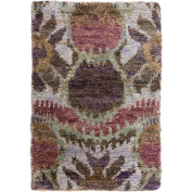 Surya SCR5152-23 Scarborough Hand Knotted Natural Fibre Accent Rug, 0.6m by 0.9m