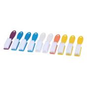 Fullkang 10 pcs Pro Nail Scrub Brushes Health Beauty Care Accesory