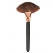 HuntGold Soft Large Fan Makeup Cosmetic Face Blush Powder Foundation Blending Highlighter Big Fan Cosmetics Brush