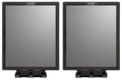 Ace Fog Resistant Shower Mirror, Black - Value Pack of 2