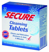 Denture Cleanser 32 Tab by Secure Denture Adhesive (1 Each) ( Multi-Pack) by SECURE DENTURE ADHESIVE