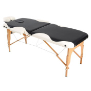 Anself Adjustable Massage Table Folding Facial Bed for Beauty and Spa Salon, Black