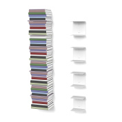 Invisible Bookshelves with 8 Compartments, White Up To 200 cm Stack of Books for Books Up to 22 cm