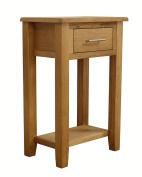 Nebraska Oak - 1 Drawer Console Table With Shelf / Hall Unit / Living Room Furniture