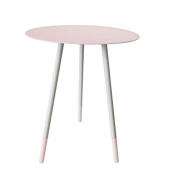 Bombay Duck BDF301P Round Enamel Side Table, Pink