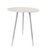 Bombay Duck BDF301Y Round Enamel Side Table, Dove Grey