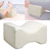 Tinxs CONTOUR MEMORY FOAM LEG PILLOW ORTHOPAEDIC FIRM BACK HIPS & KNEE SUPPORT + COVER