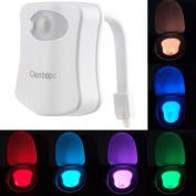 Colourful Motion Sensor Toilet Nightlight ,Oenbopo Home Toliet Bathroom Human Body Auto Motion Activated Sensor Seat Light Night Lamp 8-Colour Changes