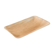 DTW05329 Disposable palm leaf plate, 25 pieces, angled, flat, 25x15 cm, compostable