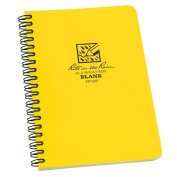 Rite in the Rain All-Weather Side-Spiral Notebook, 12cm x 18cm , Yellow Cover, Blank Pattern