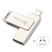 Elecrow 64GB USB Flash Drive 3 in 1 External Storage Memory Expansion for iPhone 5, 5s, 5c, 6, 6 Plus, 6s, 6s Plus 7 7Plus iPads iPods Computers Android OTG Compatible Device