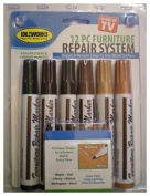 Total Furniture Repair System 12 Pcs Scratch Restore & Repair colour to Any Wood Surface