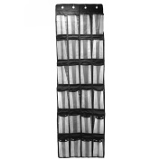 OJA Over the Door Shoe Organiser with 24 Reinforced Pockets,Mesh Pockets Heavy Duty Hanging Wall Shoe Rack with 4 Steel Door Hooks FBA ship directly from Amazon