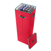 Elf Stor 100cm Tall Wrapping Paper Storage Box with Lid, Red