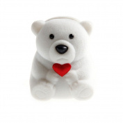 MEXUD Mini Cute Bear Jewllery Gift Boxes for Rings and Small Earrings Pendant Necklace