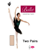 2 Pairs Silky Adult Womens Convertible Dance Ballet Tights 2 Pairs