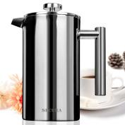 Secura Stainless Steel French Press Coffee Maker 18/10 Bonus Stainless Steel Screen