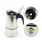 MAYMII 2 Cup/100ml Stainless Steel Moka Espresso Latte Percolator Stove Top Coffee Maker Pot